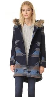 Пальто Dalley с капюшоном и этническим принтом BB Dakota