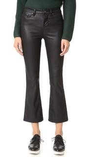 Расклешенные брюки Crop Kick из искусственной кожи Blank Denim