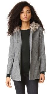 Пальто-анорак Audry с отделкой из искусственного меха Cupcakes and Cashmere