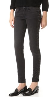 Черные джинсы со шнуровкой по бокам Etienne Marcel