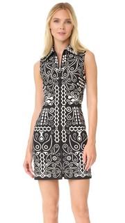 Платье из хлопка с принтом Holly Fulton