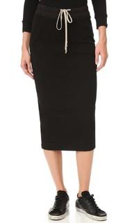 Мягкая короткая юбка-карандаш Rick Owens Drkshdw