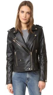 Кожаная байкерская куртка Blank Denim