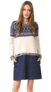 Платье-свитер Clu Too с жаккардовым узором