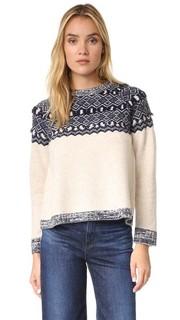 Пуловер Clu Too с жаккардовым узором