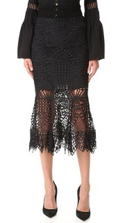 Кружевная юбка-годе Bridge Jonathan Simkhai