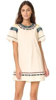 Платье-футболка с вышивкой Sea