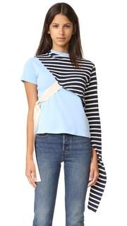 Рубашка в стиле футболки с узлами Jacquemus