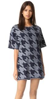 Платье-футболка из денима с потрепанными краями Marques Almeida