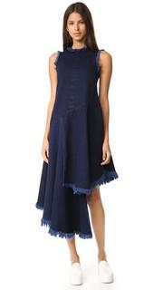 Многослойное миди-платье с бахромой Marques Almeida
