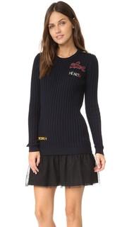 Платье-свитер в стиле пэчворк RED Valentino