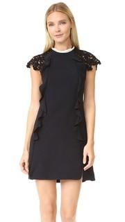 Платье с кружевными рукавами Giambattista Valli