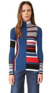 Рубчатый свитер с цветными блоками Kenzo