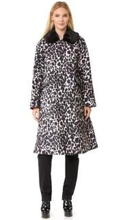 Пальто с воротником из искусственного меха Marc Jacobs