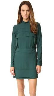 Платье с высоким воротником No. 21