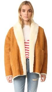 Двустороннее пальто Alaska с отделкой из короткого меха Mes Demoiselles