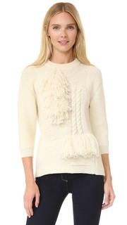 Пуловер из трикотажа с бахромой Nina Ricci