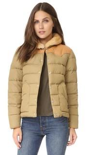Пуховая куртка Rockwool с кожаной кокеткой Penfield