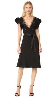 Платье из искусственной кожи и шерсти Rodarte