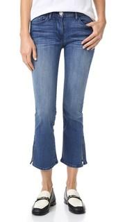 Укороченные расклешенные джинсы W2 с разрезами 3x1