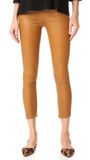 Укороченные кожаные брюки Brittany The Perfext