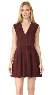 Замшевое платье-халат Rosie The Perfext