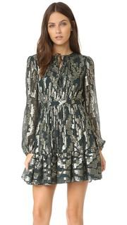 Металлизированное платье в богемном стиле Cynthia Rowley