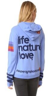 Толстовка с капюшоном на молнии Life Nature Love с искусственным мехом Freecity