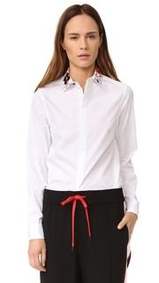 Рубашка на пуговицах с вышивкой Kenzo