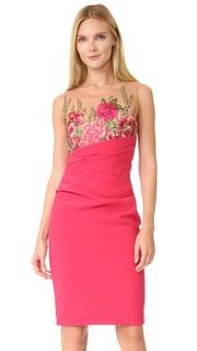 Коктейльное платье с вышивкой Marchesa Notte