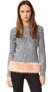 Пуловер с искусственным мехом Opening Ceremony