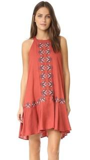 Платье с заниженной талией с вышивкой Piper