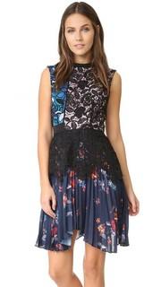 Плиссированное платье Nina Self Portrait