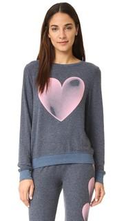Мешковатая пляжная толстовка с выцветшим изображением сердца Wildfox