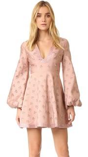 Платье с вышивкой Karmic Stamp Zimmermann