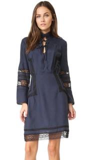 Платье с высоким воротником и длинными рукавами Derek Lam 10 Crosby