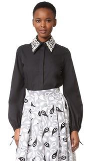 Рубашка с вышивкой и воротником Holly Fulton
