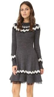 Платье-свитер с жаккардовым узором RED Valentino