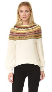 Жаккардовый свитер Claudia Schiffer x TSE