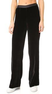 Широкие бархатные брюки T by Alexander Wang