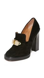 Кожаные туфли на каблуках Carven