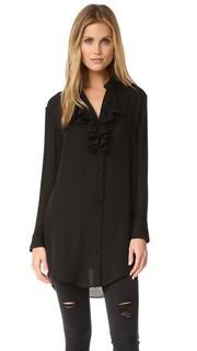 Платье-рубашка с оборками спереди Haute Hippie