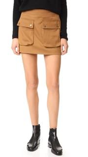Мини-юбка с накладными карманами Helmut Lang