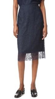 Кружевная юбка-карандаш Grey Jason Wu