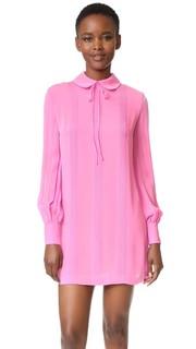 Платье-рубашка с защипами