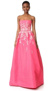 Бальное платье без бретелек Monique Lhuillier