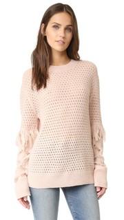 Кружевной свитер Naomi с бахромой и вязкой косичками Tanya Taylor