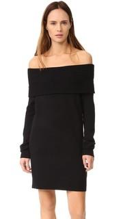 Платье с открытыми плечами Cashwool T by Alexander Wang