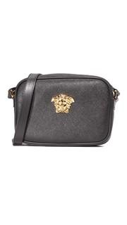 Кожаная сумка на ремне Versace