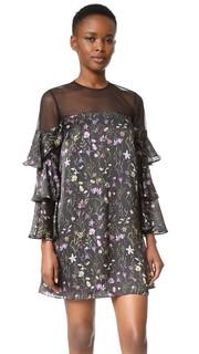 Мини-платье с цветочным рисунком Prairie Cynthia Rowley